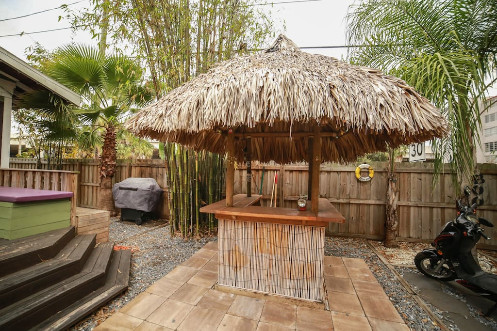 Tiki Hut and Gas Grill