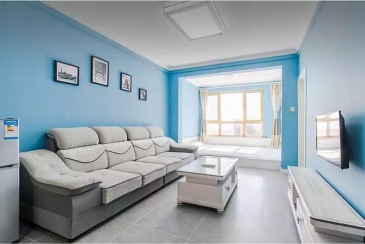 梦之湾海景榻榻米蓝色地中海风情公寓1901