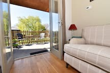 Patio area and far reaching countryside views