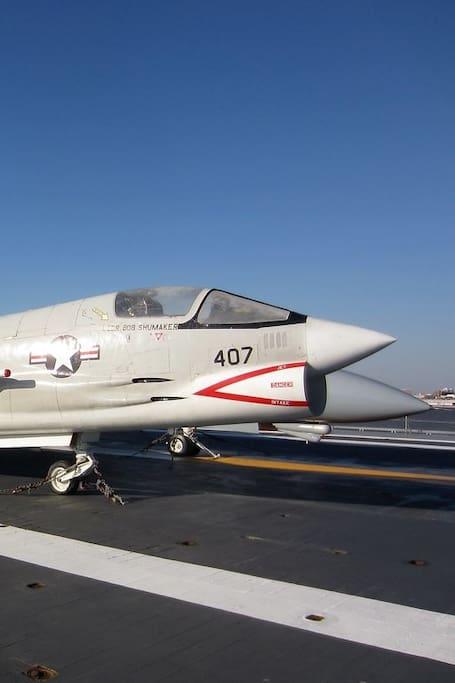 F-8 Crusader onboard USS Yorktown.