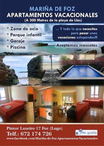 """""""Apartamentos vacacionales Mariña de Foz, D"""""""