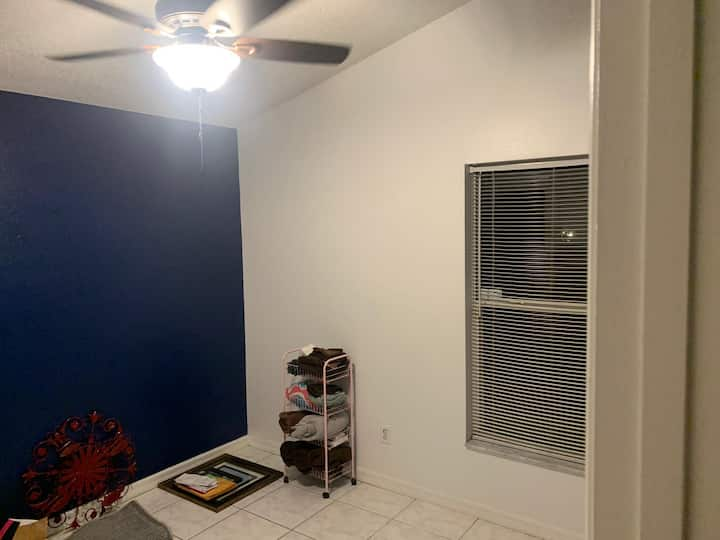 Snug private room 25 minutes from downtown Orlando
