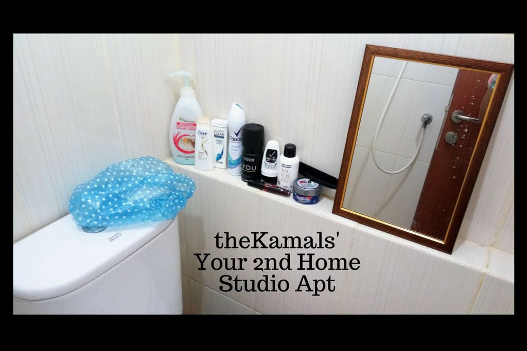 Mirror, comb, soap, shampoo, 2 small size bath towels, 2 indoor slippers is your amenities