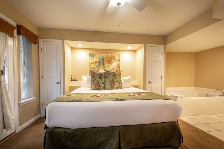 The ultra comfortable bedding on your King sized bed in the master is the perfect ending to the perfect day!