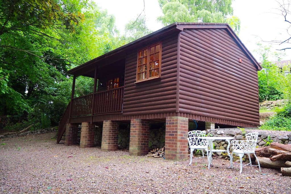 The Hidden Cabin Self Contained Log Cabin Pool Cabins For Rent In Kinnerley England