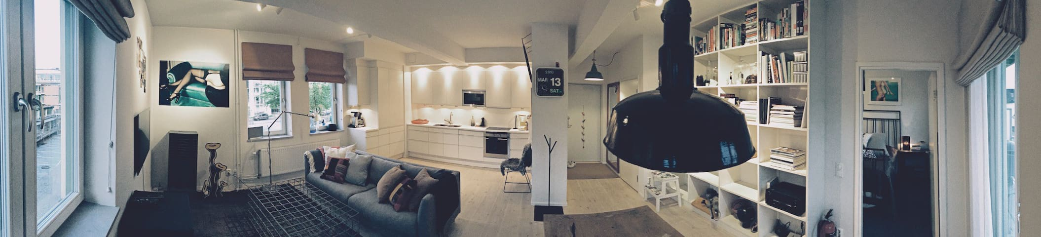 Modern spacious studio apartment