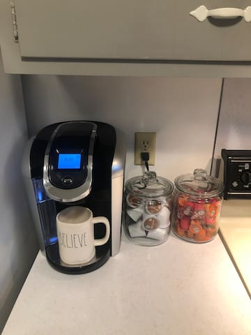 Keurig and K-cups for a nice cup of fresh coffee to start your day!