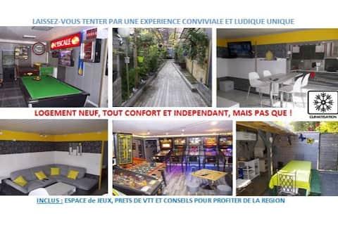 L'EscalED - Nice Flat + Arcade room (free games)