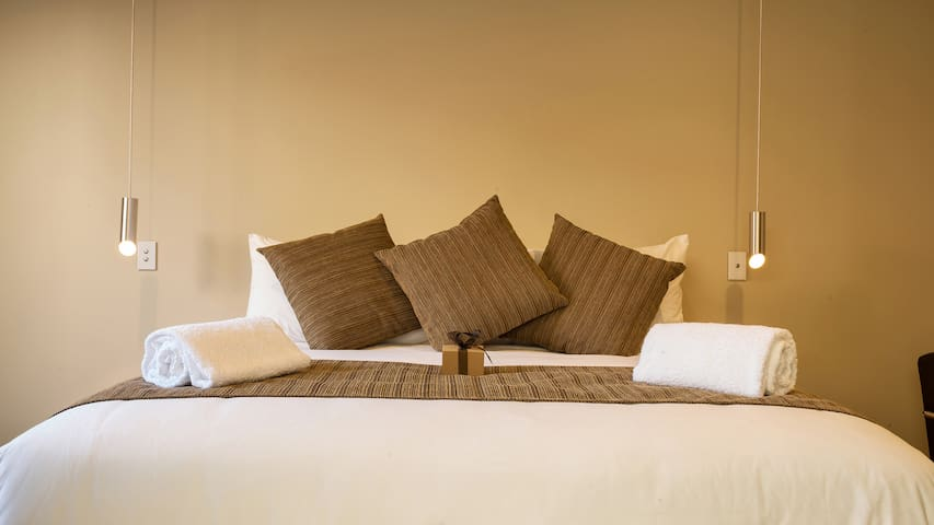 Bed  with massage features
