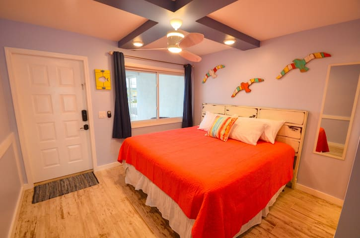 Bedroom! Newly added 55 inch Roku TV in bedroom!