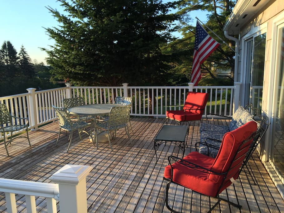 Sit back and relax on our large front deck with amazing views.