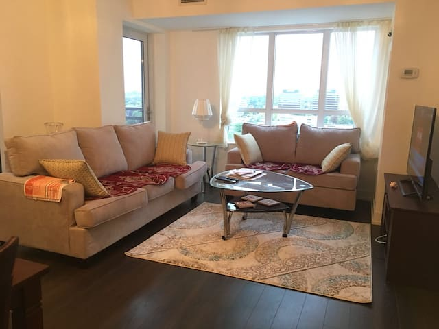 A Bedroom in an Elegant Condo for Ladies Only