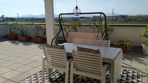 Attic with view in Albignasego