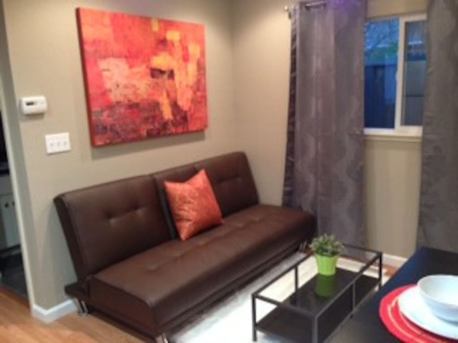 Great living space w pull out couch.