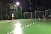 公寓里的篮球场