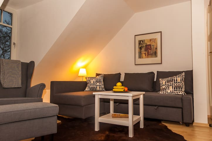 Charming attic near Frankfurt SBahn