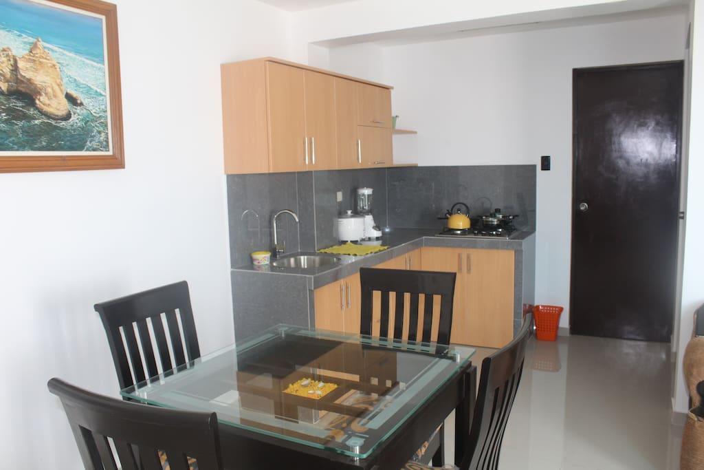 sala, comedor cocina