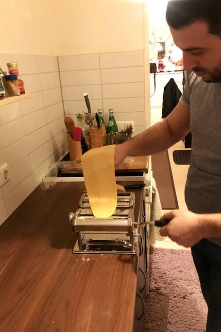 Me making Pasta