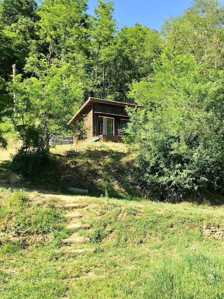 LaPauseEnSoi Cabane Lève-Tard Vue Pyrénées Jacuzzi