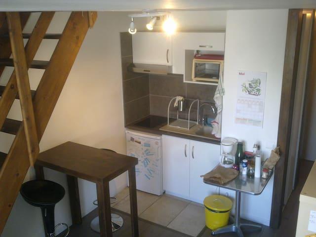 Moderne T1bis en duplex meublé refait à neuf - Grenoble  - Wohnung