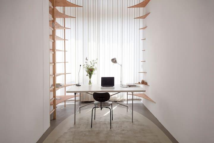 Nice little guest room in an Artist studio space