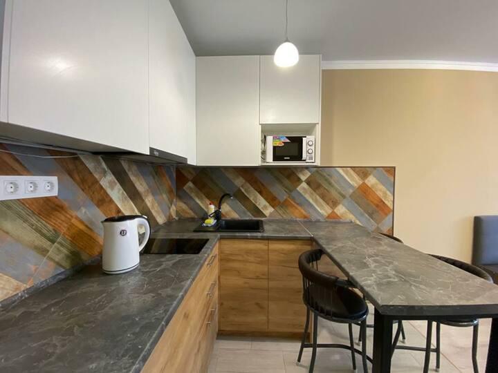 Новая квартира с видом на Кок-тобе