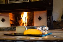 Enjoy the local delicacies by the warmth of the fire