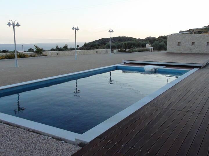 Anasa Villa with sea view and pool