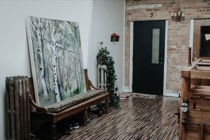 Common areas of the Lofts.