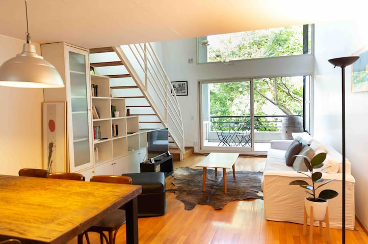 Luminous big Loft in Belgrano! w/ Parking & BBQ!!