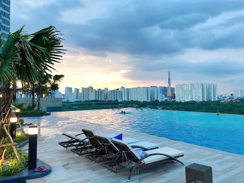 Lovely 1BR Apt w FREE Infinity Pool and Gym