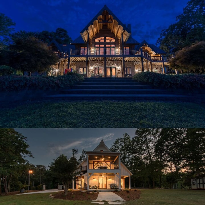 The RETREAT= The Lodge + the Cottage-two best houses on Lake Norman together | S