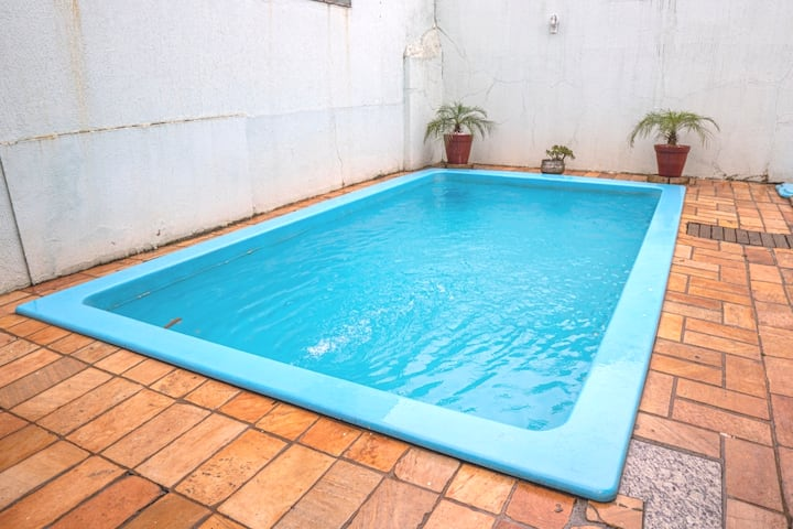 Lar doce lar- Climatizado- 4 quartos e 5 camas