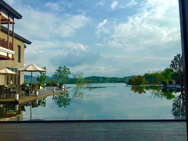 距离天目湖景区300米  享别墅风情1号 - Changzhou Shi - Raðhús