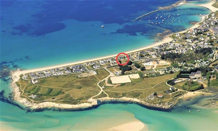Villa Aezhenn,  vue mer, à 50m de la plage