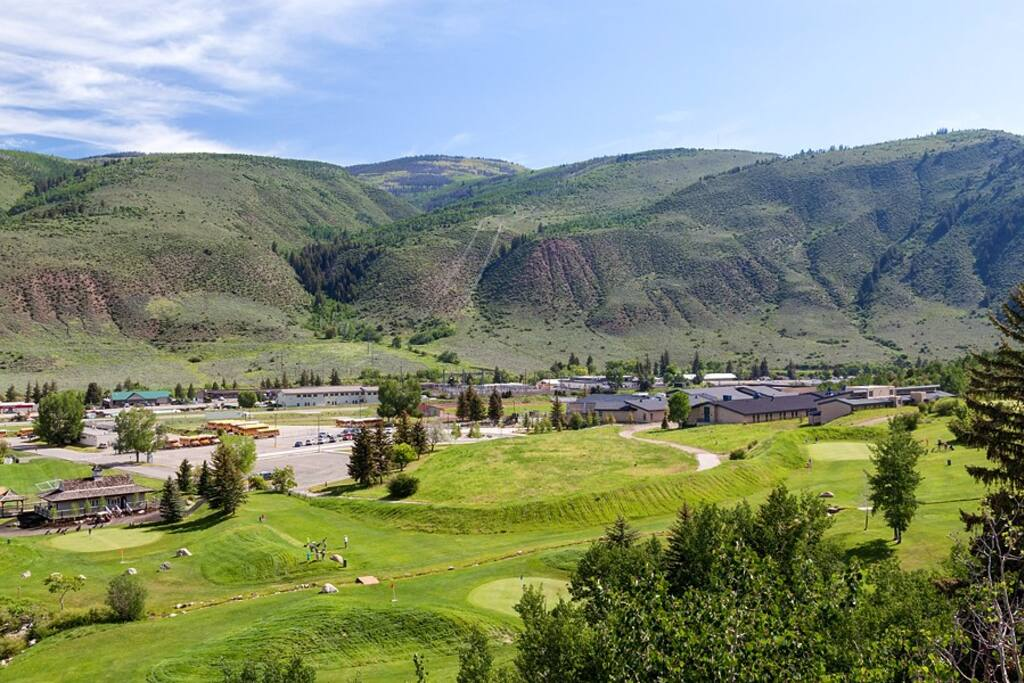 Our property overlooks gorgeous Eagle-Vail golf course.