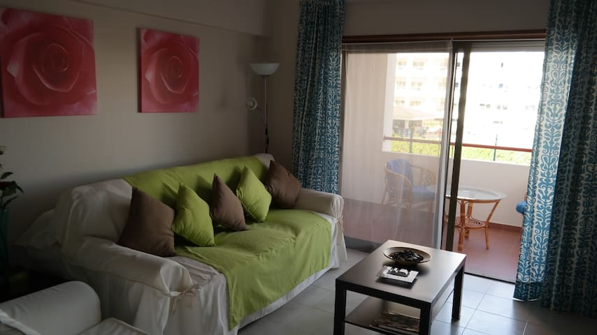 sala de estar com sofá cama
