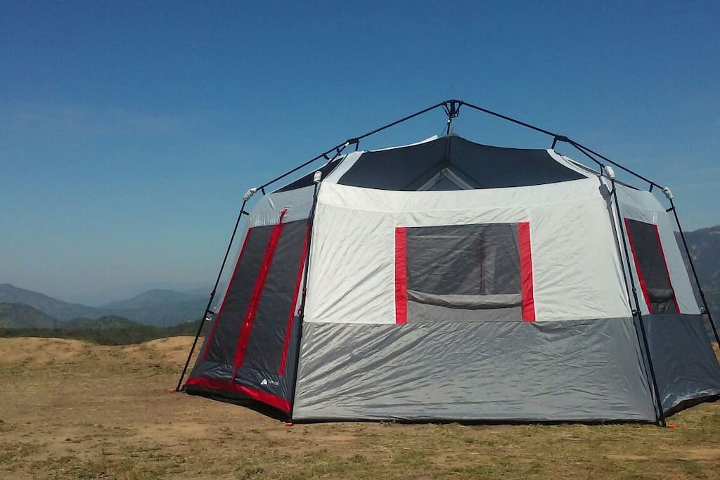 Our new BIG tent sleeps five