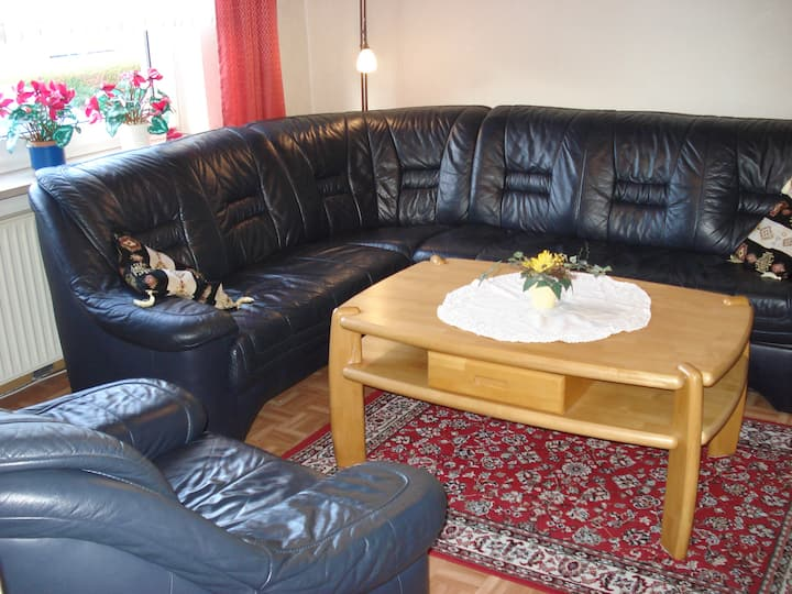 """Comfortable Holiday Home """"Behrends"""" near North Sea with Wi-Fi, Terrace & Garden; Parking Available"""