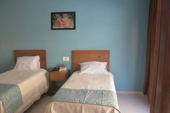 203 Hab. 2 camas Ind. A/C, TV antena