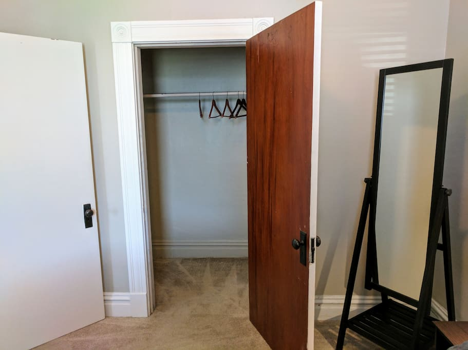 Ample closet in bedroom