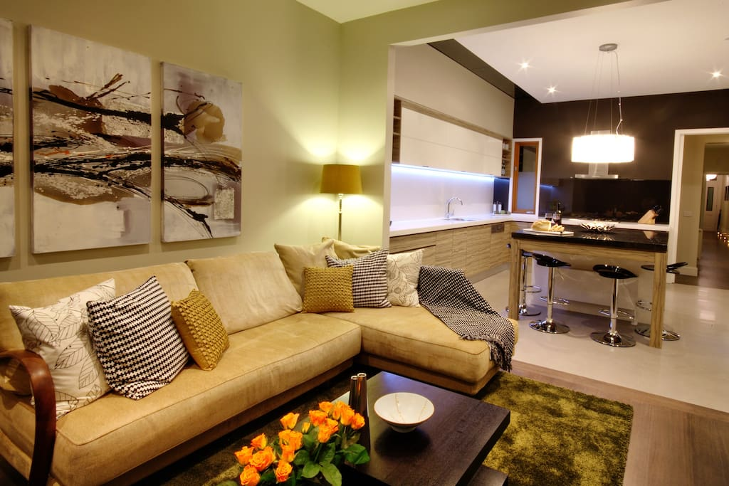 Comfortable seating is a feature in this beautiful home.