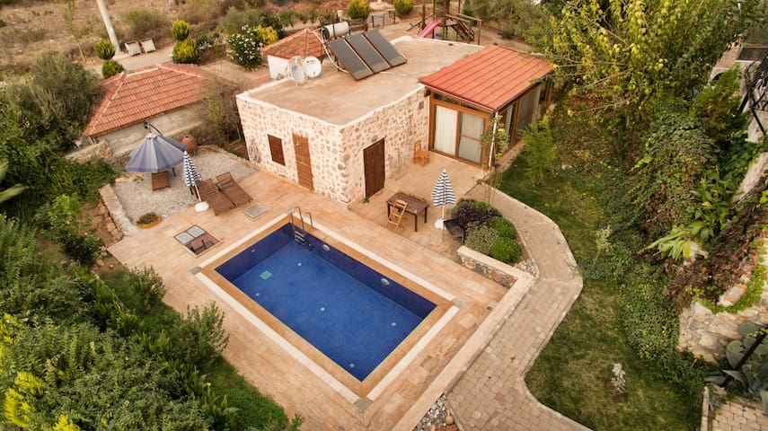 AKY4900-Fethiye Kayaköy 1 odalı özel havuzlu villa