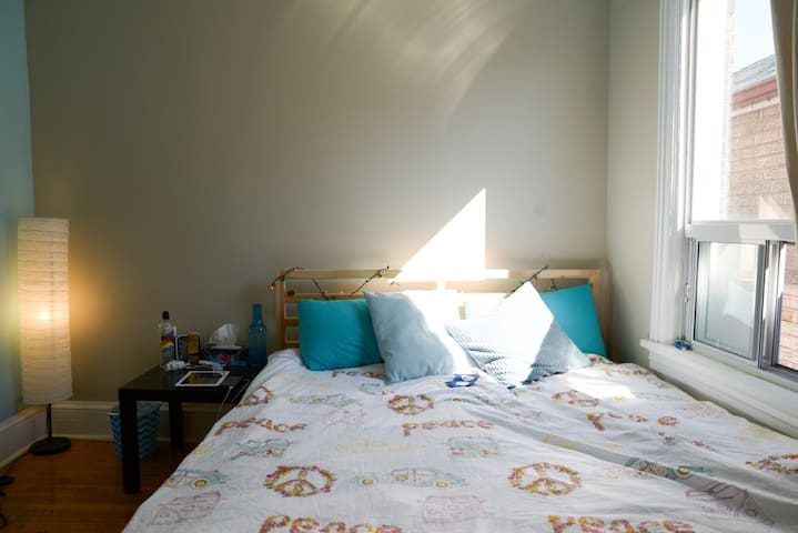 Bright, Beige-y  Room-Dufferin Grove; Female Only