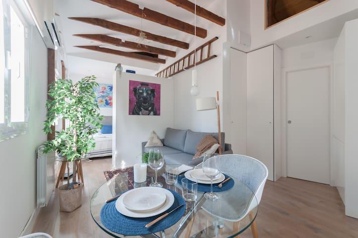 Wonderful Rooftop Studio in the Heart of Goya-2PAX