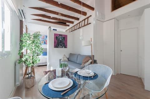 位于Goya心脏地带的美妙屋顶单间公寓,可容纳2人