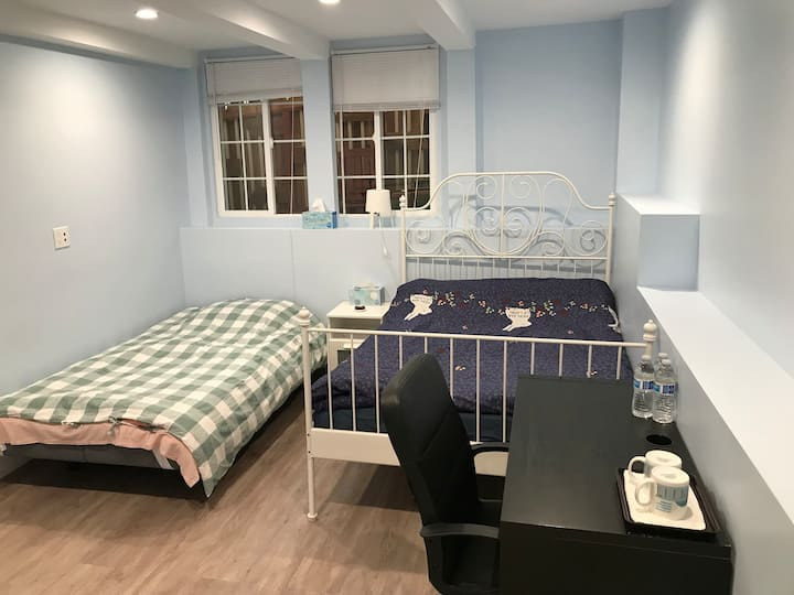 1A Private Room & bath, 1 Bed & 1 sofa bed