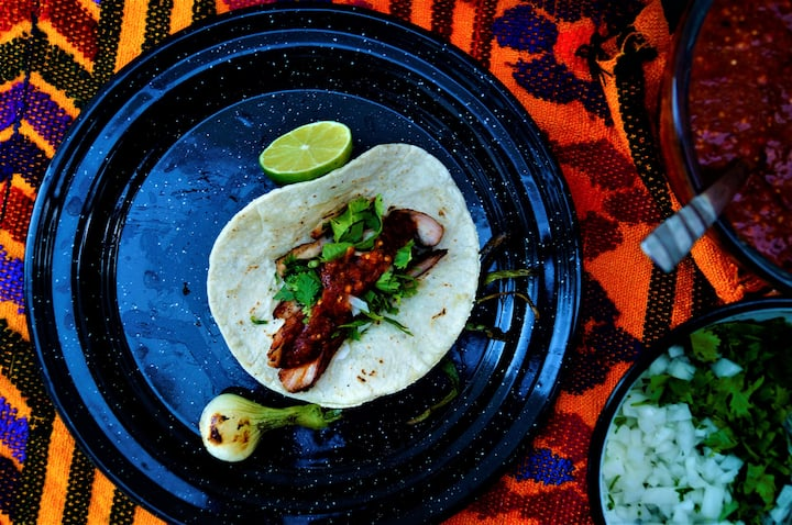 Slow Cooked pork belly taco