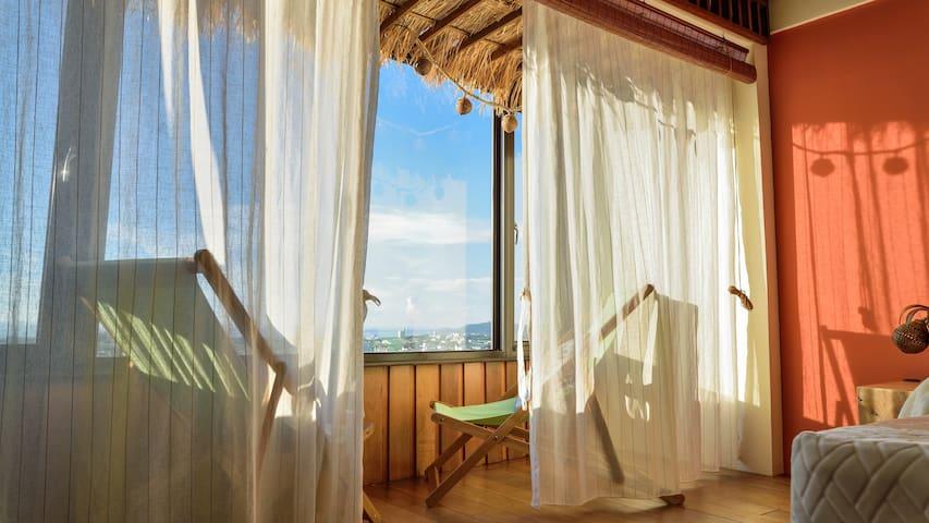 超大 山海景 獨戶villa雙人房,適合情侶居住。