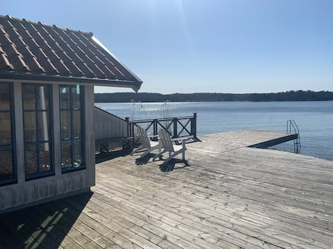 Lake place Tyresö Brevik met sauna en zeebad.